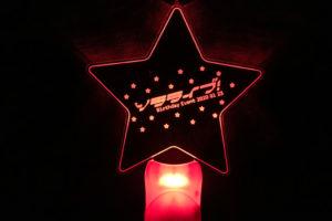 きらきら星柄のアクリルペンライト