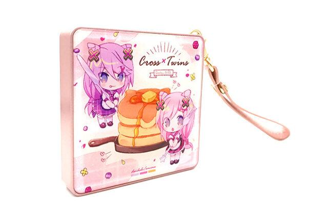 優しい春色ピンクのスクエアモバイルバッテリー