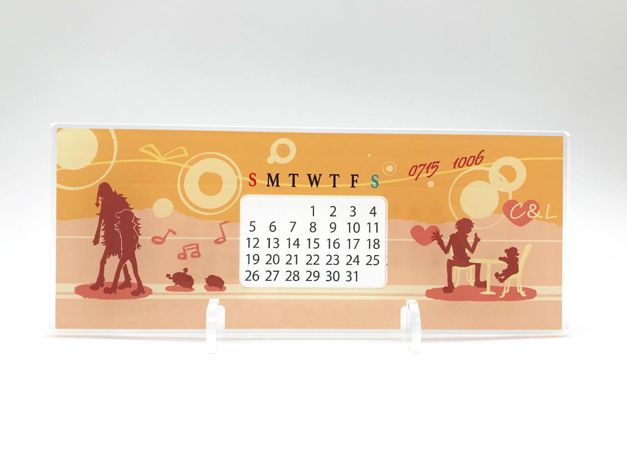 アクリル万年カレンダー 画像2